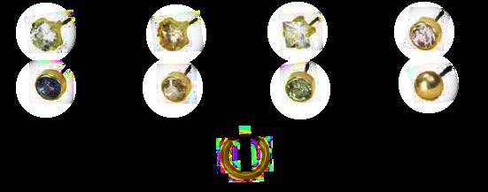 Biżuteria hipoalergiczna - Blomdahl - Złoty Tytan Medyczny - Kryształy Swarovskiego