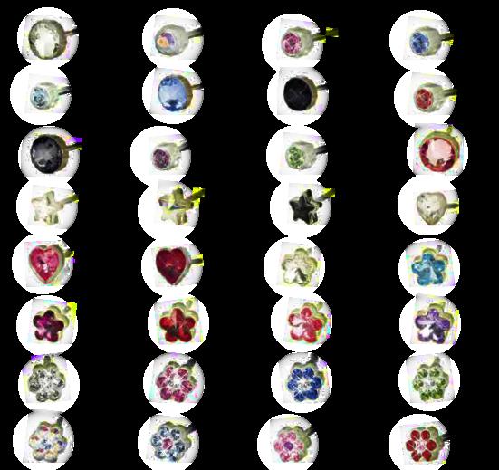 Biżuteria hipoalergiczna - Blomdahl - Plastik Medyczny - Kryształy Swarovskiego 0% niklu